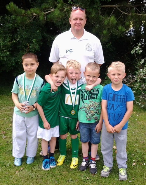 Pip and the U8s who did well at Vinters today