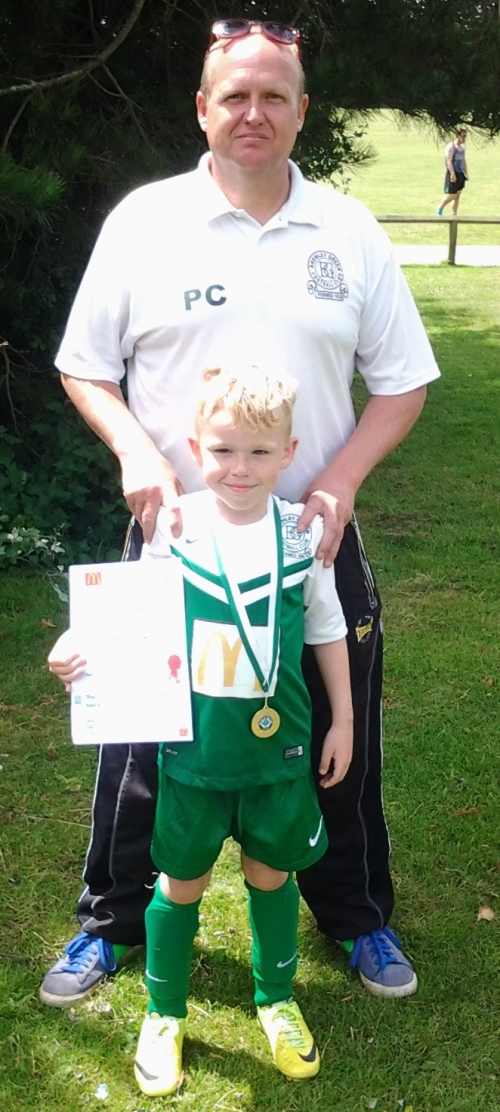Pip and our U8s Player of the Tournament at Vinters today, Reagan