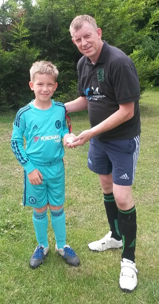 Charlie Rivett, who kept a blank sheet in the internal U10 match during the week, is Player of the Match