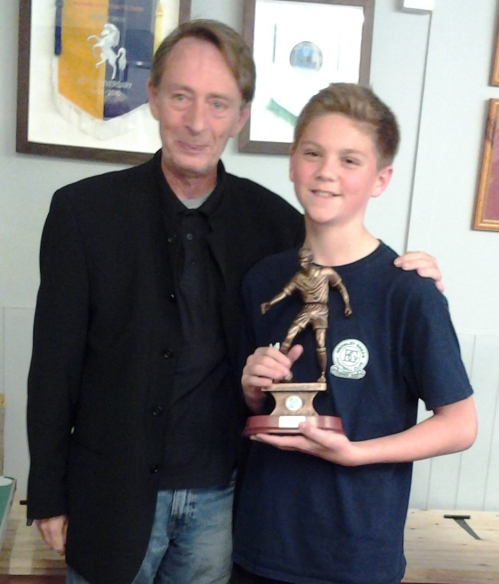 Best Youth Newcomer is Lennon Spencer seen here with Vice President Mark Day