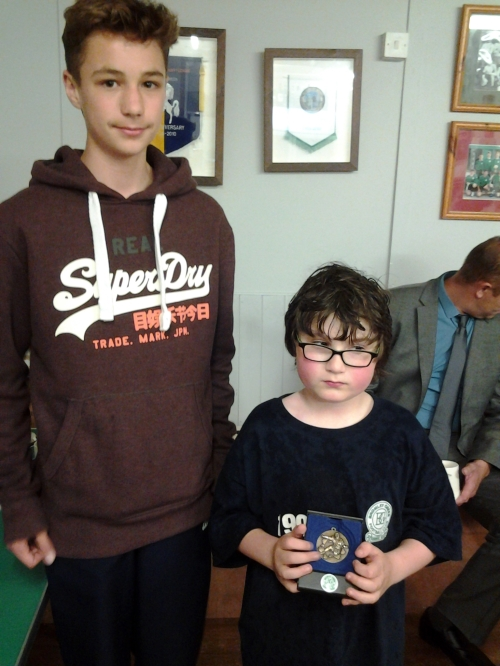 Lewis Stansfield presents Seth with his Merit Award