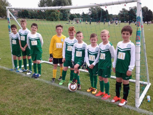 The Under 11s who had a terrific, sporting, match with Pilgrims today that ended 1-1
