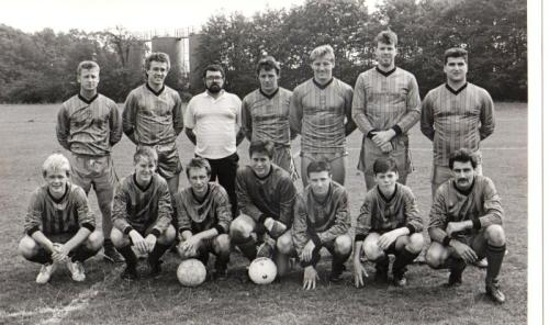 September 1988-89: Reserves Player manager Mark Stanley is centre, back row, next to sponsor Jimmy White