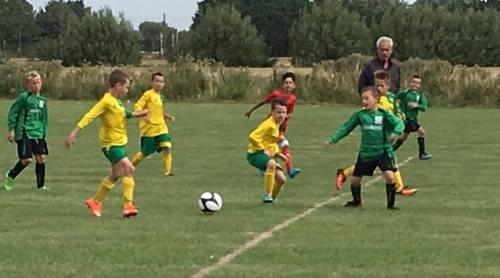 Action from Grasshoppers v Green U10s on Saturday