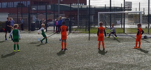 Bradley nets from the penalty spot at the Snowdown tournament