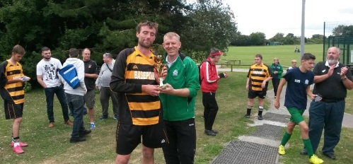 After several hours of fantastic football, Folkestone A emerged deserved winners of the tournament at Waterside yesterday