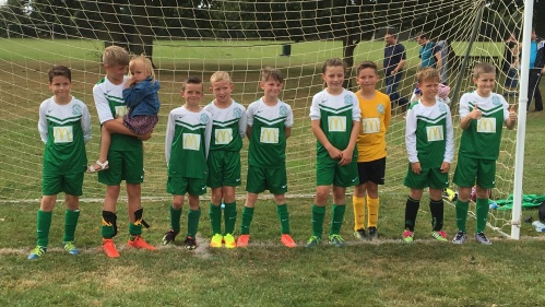 The U11s who won 7-3 at Biddenden this morning