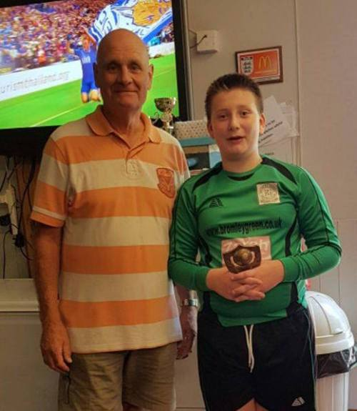 Congratulations to Igor, our U12s PoM, seen here with manager Barrie Castle