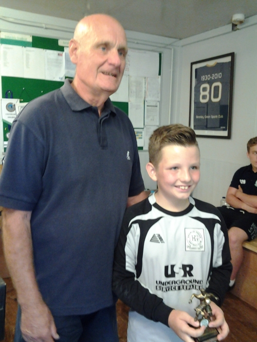 U12s star on his debut was Artjom seen here with Barrie Castle
