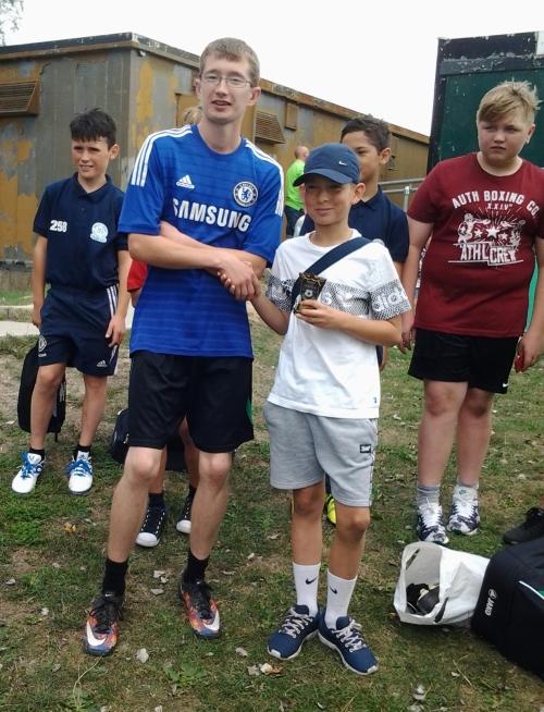 U13s PoM Ben Seager with Charles Fletcher