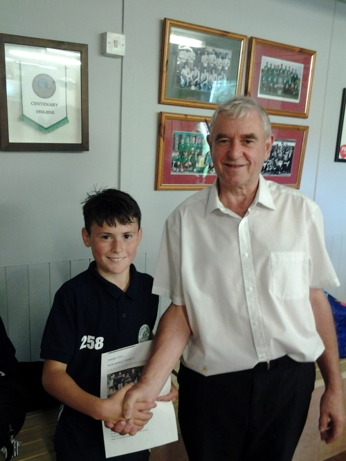 Congratulations Lorenzo of the U13s