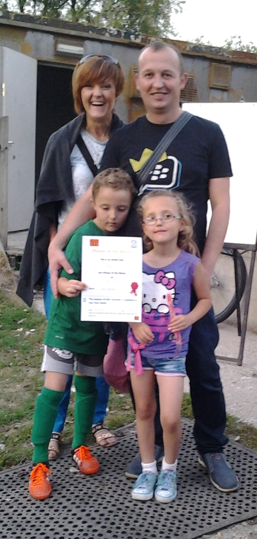 Family celebrations for goalkeeping star Dawid