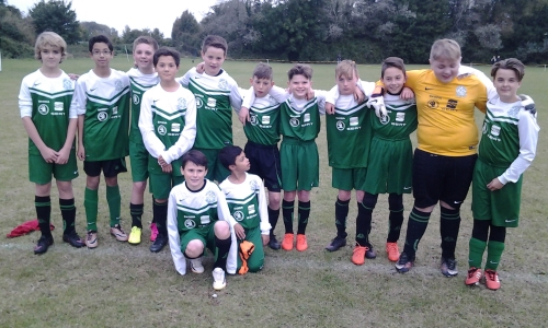 The U13s yesterday sponsored by Skoda
