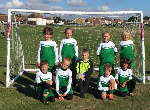 The U10s before today's thrilling encounter at Lydd