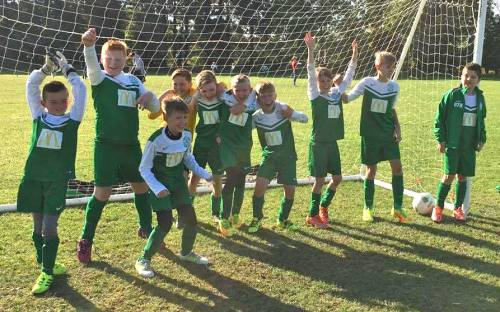 After-match celebrations for the U11s