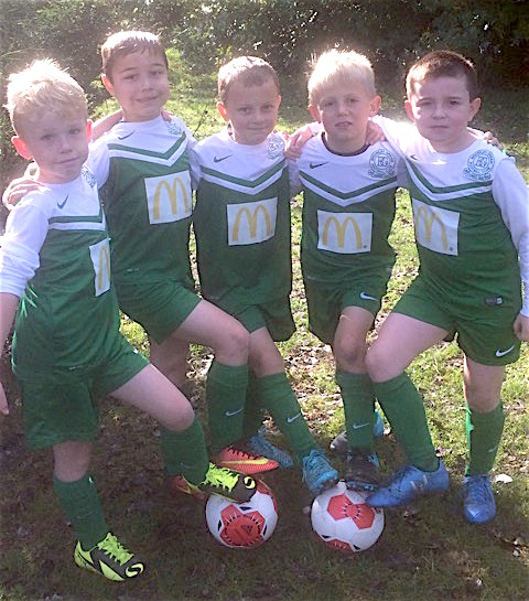 The U8s who had an enjoyable friendly with their club mates