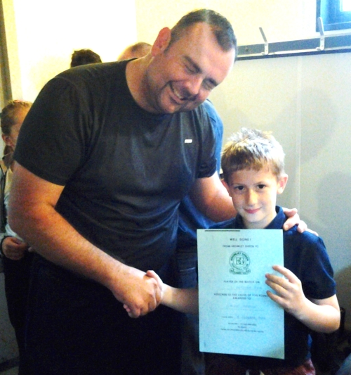 Recent signing Stevie Brown is our U10s PoM ... well done!