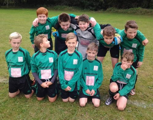 Not known for paying attention, the U12s prepare to face Pilgrims