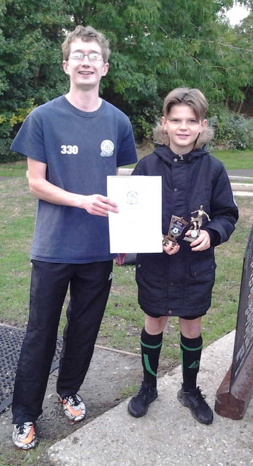 Double recognition for Brayden who receives his PoM award from the weekend plus a trophy for sportsmanship after comforting an opponent in distress in a recent match ... well done!