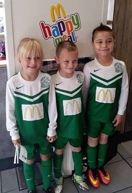 The U8s at sponsors McDonalds last week ... today they hit top form