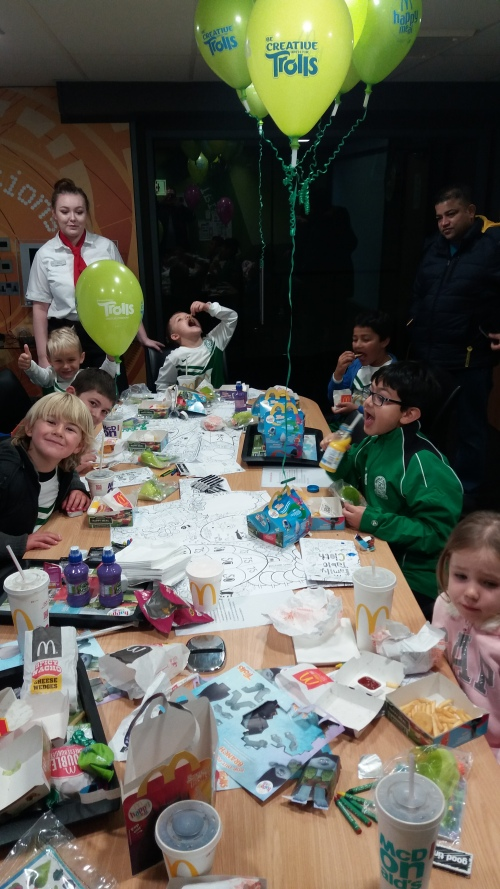 Whatever has this member of staff done to deserve this lot! U8 Colts at McDonalds on Saturday