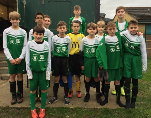 The U13s before setting off yesterday