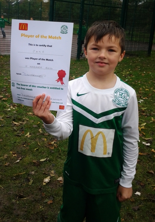 A dream Colts debut for Jake who is pleased with his McDonalds voucher