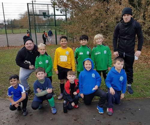 The U8 Colts squad who are continuing to build