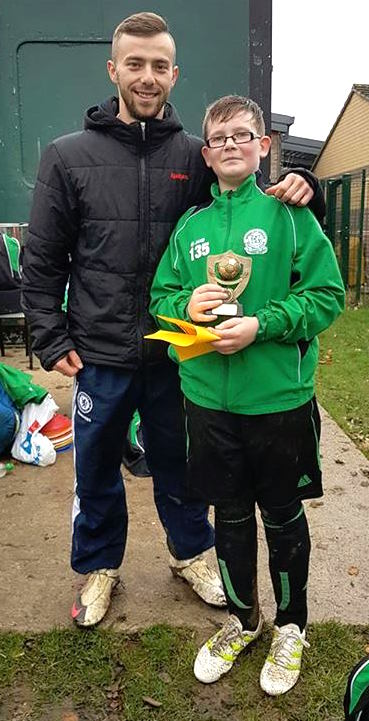A BGFC Voucher for Jake ... our U12s Player of the Match in an entertaining draw