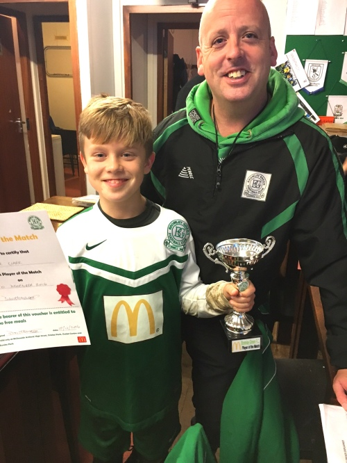 Not at our best but Joe is our McDonalds U11 Player of the Match
