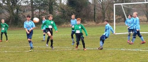 Action from the U12s who were excellent away from home in a 3-3 draw
