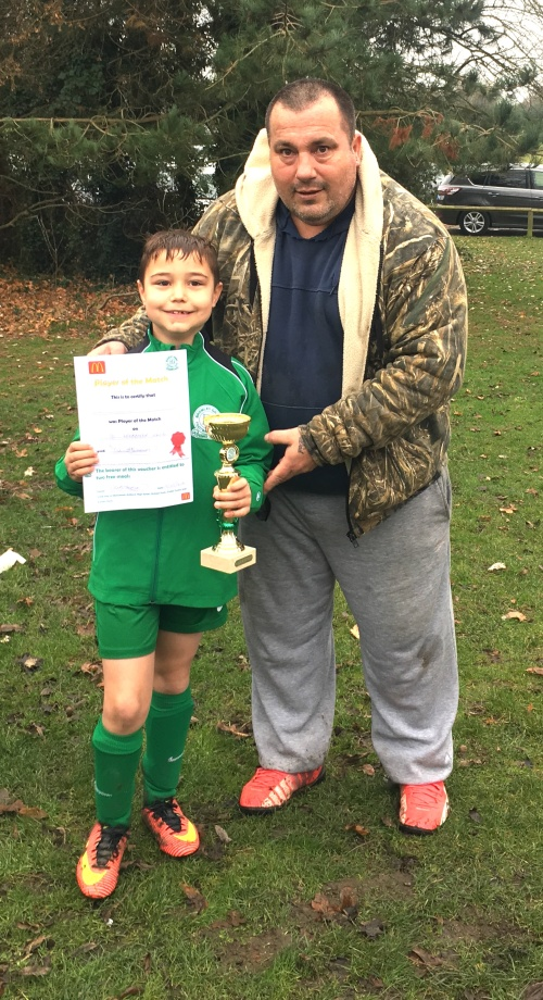 Well done Alfie! McDonalds Player of the Match for the U8s