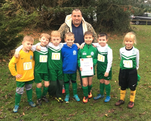 The U8s who enjoyed a great game with Wye