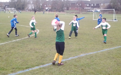 A 'good' throw for the U8s!