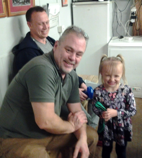 Daisy loved the Christmas Party and afterwards received a special McDonalds memento from Vice Chairman Shane Cowley