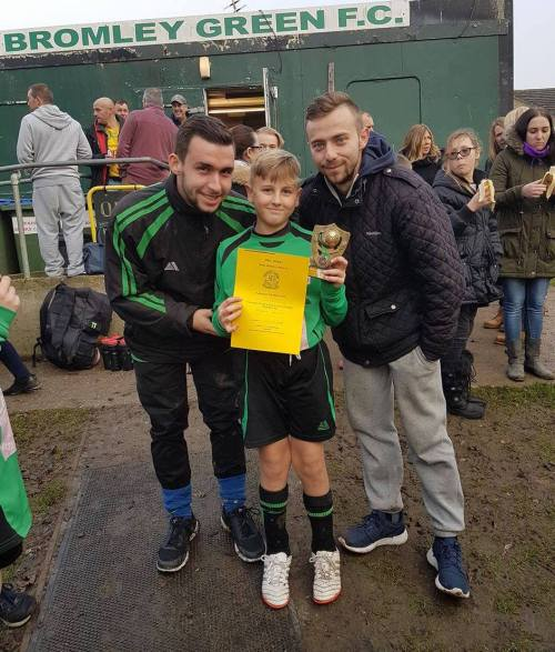 U12s Player of the Match at New Romney was Freddie Griffin