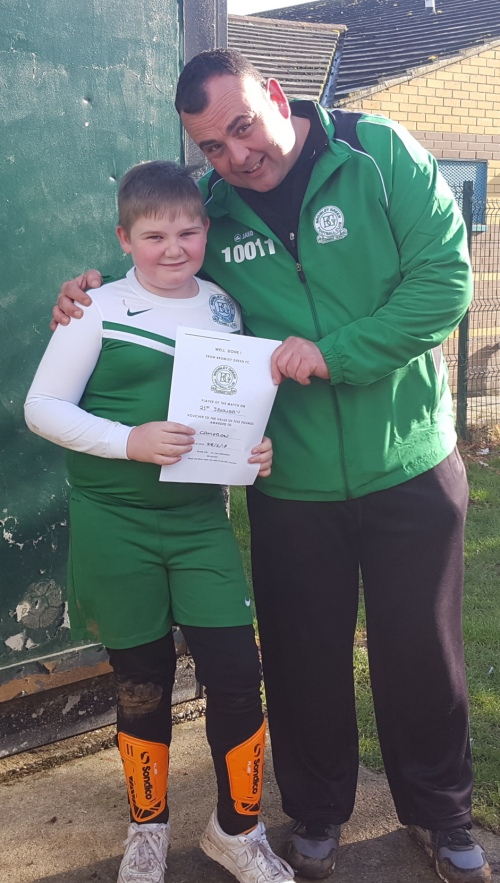 Last week's U10 Player of the Match is Cameron