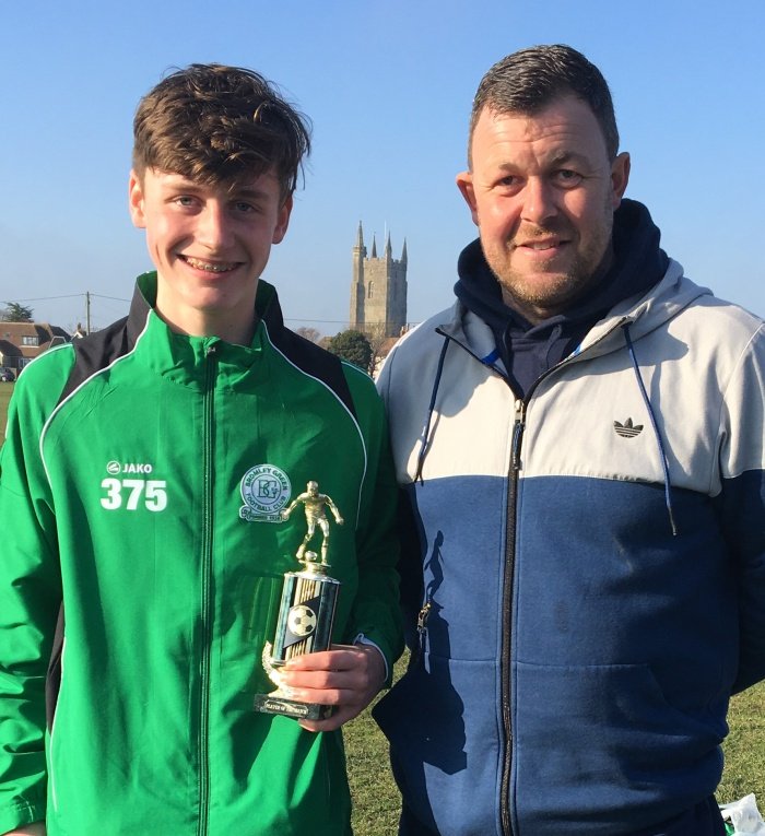 Player of the Match away to Marsh Youth; Lewis Anstiss