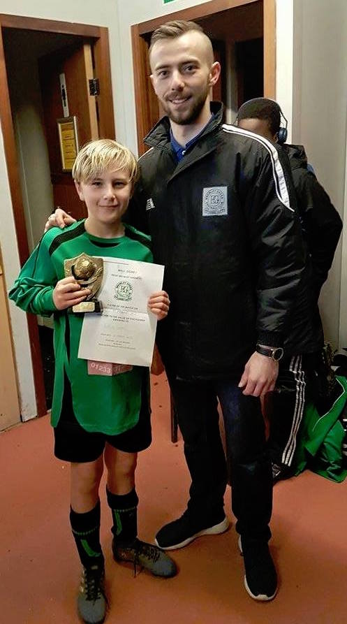 U12s PoM Callum with Nigel