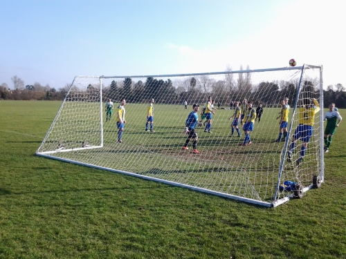 The Green go close on Saturday as they stormed into the semi-finals of the Weald of Kent Charity Cup