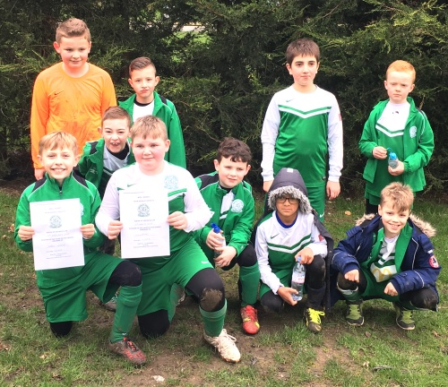 Showing much progression this season ... the U10s